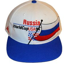 b7fa87c04d9 RARE Vintage 90s 1994 APEX ONE FIFA Soccer World Cup USA Russia Flag  Snapback Hat
