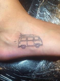 Volkswagen bus yesterday on a student from Germany. – tattoos for women small Mini Tattoos, Car Tattoos, Line Art Tattoos, Dainty Tattoos, Little Tattoos, Tatoos, Vw Tattoo, Tiger Tattoo, Tattoo Outline