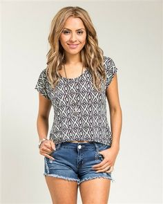 Gathered Back Mint Green & Black Aztec Print Top – Becky's Fashion Boutique $19.99