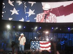 Love Toby Keith not only for his musical talent but for his patriotism...he makes sure that everything on his tour is made in America.