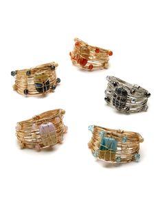 Art Glass Cuff Napkin Rings