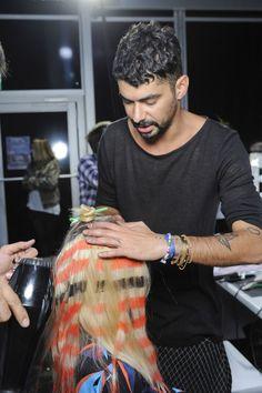 L'Oreal Professionnel Hair Chalks at London Fashion Week for Ashish & Felder Felder