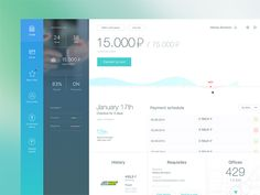 Hi folks!  It's bank account dashboard that allows you to track your credit and credit card.  Press