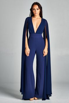 Willa Gold Chiffon Jumpsuit – Prom And Bridal Dress House Formal Jumpsuit, Wedding Jumpsuit, Jumpsuit Dress, Romper Suit, Couture Mode, Couture Fashion, Dress Outfits, Fashion Dresses, Long Sleeve Romper