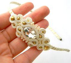 Ivory Headband wedding headband bridal headband by anatydesign