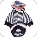 Romy & Jacob Navy Striped Dog Hoodie