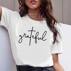 Open Soulder Print Langarm T-Shirts - Look Fashion Mom Shirts, Cute Shirts, T Shirts For Women, Trendy T Shirts, White Tshirt Women, Casual T Shirts, Chemise Fashion, Beau T-shirt, Cute Shirt Designs