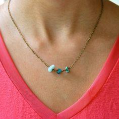 Joyas de piedras preciosas collar natural de la piedra preciosa collar/boho en…