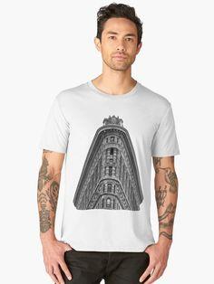 Flatiron Building Men's Premium T-Shirt Flatiron Building, Nyc, Flat Iron, Men's Apparel, Manhattan, Monochrome, Skyscraper, Phone Cases, America