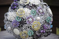 Custom Order Brooch Bridal Bouquet by nicolasacicero on Etsy, $110.00