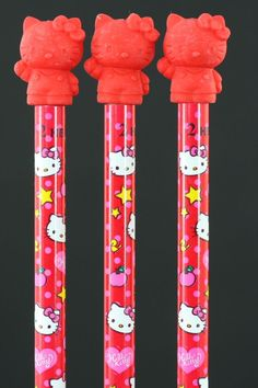 Red Hello Kitty Pencil with Red Hello Kitty Eraser