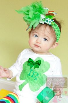 Baby Girl St. Patrick's Day Bodysuit-- Lucky Little Girl -- personalized bodysuit only