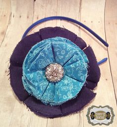 Shabby Chic Handmade Oversize Navy and by CountryQTBowtique