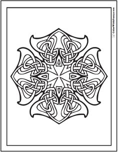 Celtic Cross Design Coloring Page