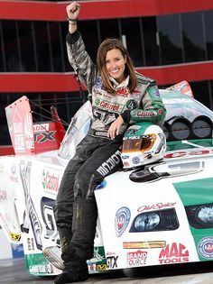 Driving against her father John Force in the finals of the April 27 Summit Southern Nationals at Atlanta, Ashley became the first female winner in NHRA Funny Car history