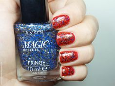 Review: Avon Magic Effects Fringe nail polishes  in Jacquered Metal and Fringe Effect