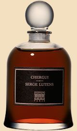 Serge Lutens Chergui. Notes of tobacco leaf, honey, iris, sandalwood, amber, musk, incense, rose and hay.