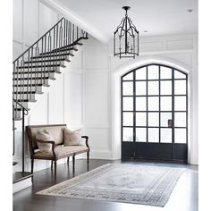 Foyer with Floor to Ceiling Wainscoting ❤ liked on Polyvore featuring backgrounds