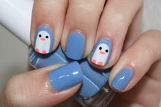 Penguins...mya's favorite gonna have to paint her nails now!!!