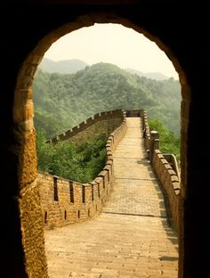 The Great Wall of China.  Step through the door into the time of Lao Tzu, Confucius, and civilizations of China which reached great heights well before there was a stirring of culture in the west.