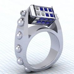TARDIS ring (and yes, it spins!)