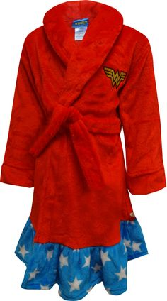 2a6796aa96 WebUndies.com Dc Comics Dress Like Wonder Woman Plush Robe Superhero Suits