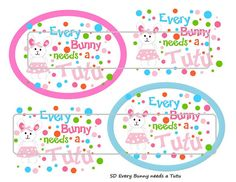 DIY Printable Every Bunny Needs a Tutu Shrinky Dinks by MaddieZee, $1.50