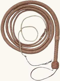 8 Foot Professional Braided Durable Nylon BULL WHIP Natural Grain Wooden Handle