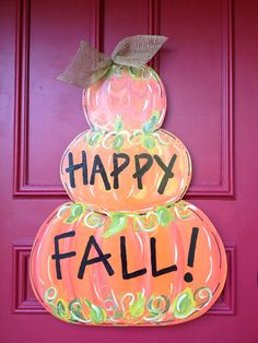 This adorable door hanger will get you through two seasons! It will be great for fall and winter! It is approximately 28 inches tall and 24 inches wide.