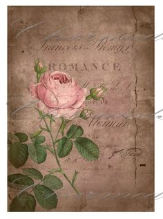 intage post with roses and romance for decoupage. Vintage Labels, Vintage Ephemera, Vintage Cards, Vintage Paper, Vintage Postcards, Decoupage Vintage, Decoupage Paper, Images Vintage, Vintage Pictures