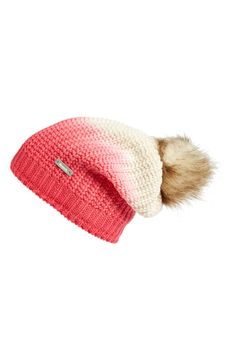 Love this ombre pom beanie.