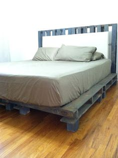 Pallet furniture bed pallet furniture bed ideas best use of cheap pallet bed frame wood pallet . Pallet Furniture Bed, Pallet Bed Frames, Wooden Pallet Furniture, Furniture Ideas, Furniture Online, House Furniture, Bed Frame And Headboard, Diy Bed Frame, Pallet Platform Bed