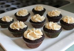 Chocolate and Guiness beer cupcakes with Irish cream....for the fellas. Order from Coccadotts :)