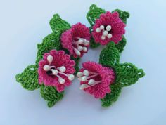 Handmade by myself using quality cotton yarn Each flower approx 4x3cm Other colours available Thanks for looking! | eBay!