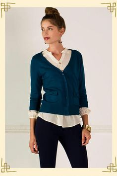 Love the shirt, the cardi, everything about this.