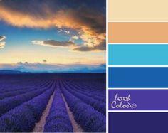 Сочетание цветов голубой. Лазурь