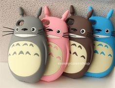 3D Cute My Neighbor Totoro Soft Silicone Case cover for Apple iphone5s 5g 4S 4G