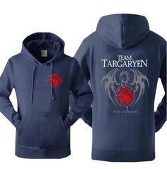 Game of Thrones Hoodies Men Targaryen Fire & Blood Dragon Tracksuit 2017 Autumn Winter Fleece High Quality Sweatshirts For Fans