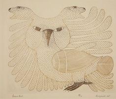 Brown Owl by Ashevak Kenojuak 1967