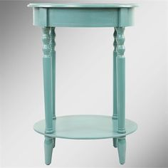 Reigna Teal Oval Accent Table