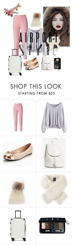 """""""Winter Day FLY BAG"""" by verasilvafe on Polyvore featuring Esme Vie, Butterfly Twists, Everlane, Helen Moore, CalPak, Christian Dior and airportstyle"""