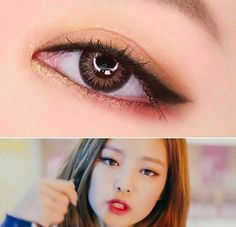 Jennie - Blackpink. Eye makeup #blackpink #jennie #koreanmakeup