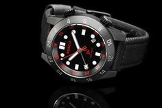 """The Red Circle This limited edition watch is a collaboration piece between RESCO and Navy SEAL Sniper Instructor and Author of """"The Red Circle"""", Brandon Webb.MSRP$1,105.00"""