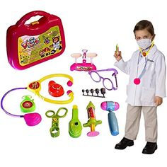 Dazzling Toys Doctor Nurse Medical Kit Playset 10 Pcs Kids Pretend Play Tool Set >>> Be sure to check out this awesome product.