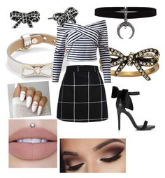"""""""Black and white"""" by jensunicorn on Polyvore featuring Ted Baker, Marc Jacobs and Miss Selfridge"""