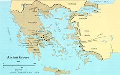 """The Greek homeland centered on the lower southern part of the Balkan peninsula, important settlements along the eastern coast of Anatolia, the island of Crete, and the Cyclades and Dodecanese islands of the Aegean Sea. Macedonia and Thessaly can also be included, even though many Greeks exhibiting a degree of snobbery considered them """"barbarians."""" The Ionian Sea on the west included islands settled by  Greeks, and southern Italy and Sicily in the western Mediterannean also had Greek…"""