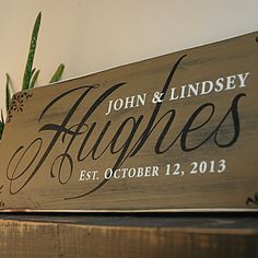 Our custom family wood signs are handmade and hand painted on a nice thick pine board. Personalized with your last name, first names and established date. This wood sign is made of high quality wood m