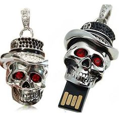 3D Skull Skeleton USB Pendrive 8 GB W... @ Memoirs
