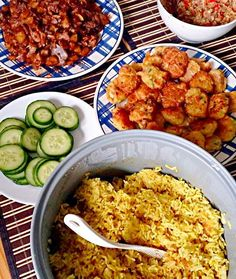 we ussually cooking these for a special occasions such as to celebrate birthday - 5件のもぐもぐ - Yellow rice with potatoes perkedel, Indonesian fried chicken and Balinese's sambal matah by kanjengmutti