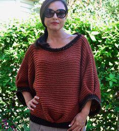 """Купить Вязаный джемпер""""Джаз"""" - коричневый, однотонный, вязаный джемпер, вязаный свитер, вязаный свитер женский"""